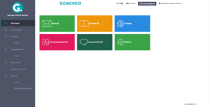 Gomingo Dashboard View Home